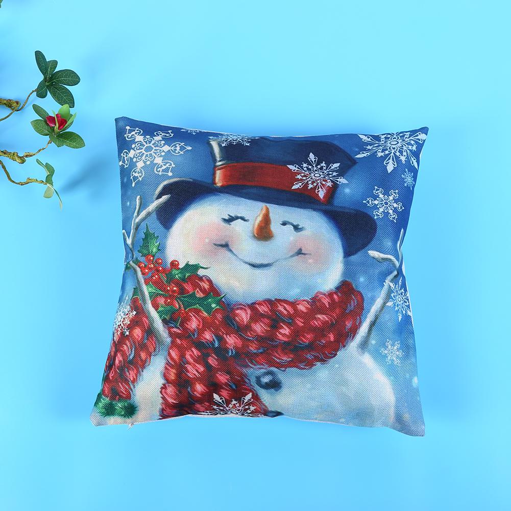 Snowman Pillow Case Christmas Decoration Shop Local