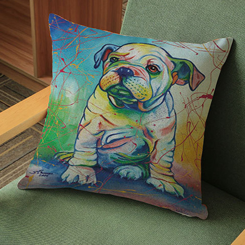 Cute Dog Print Pillow Covers Shop Local Communities