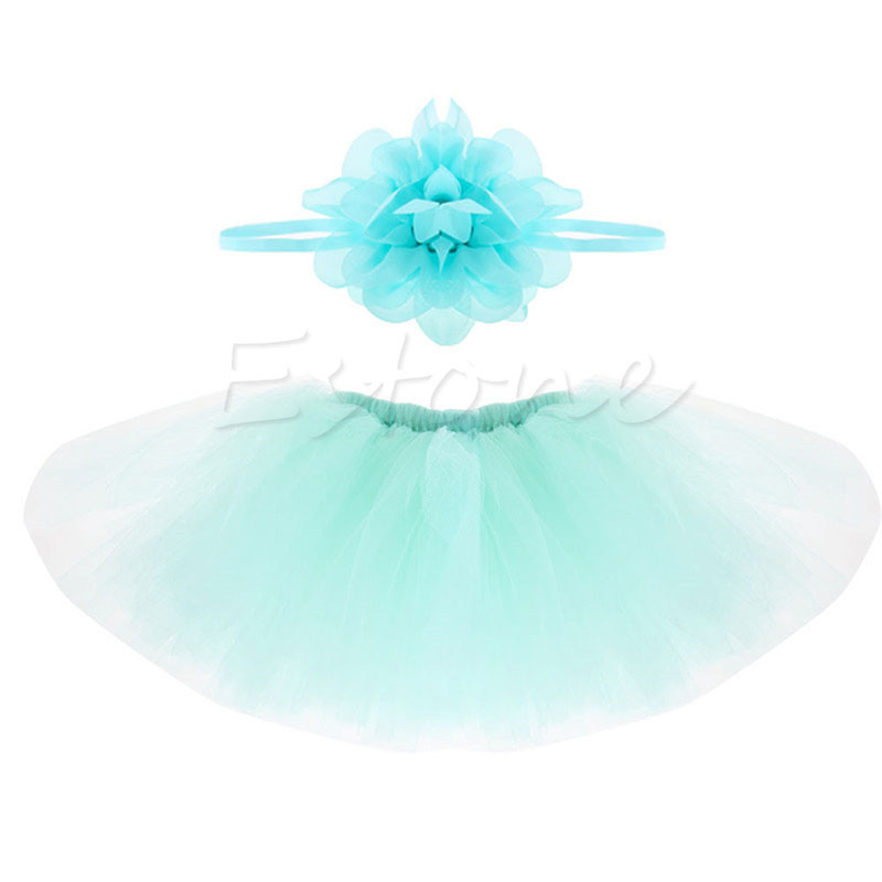 Baby Short Cake Tutu Skirts And Headband Photo Prop Outfit