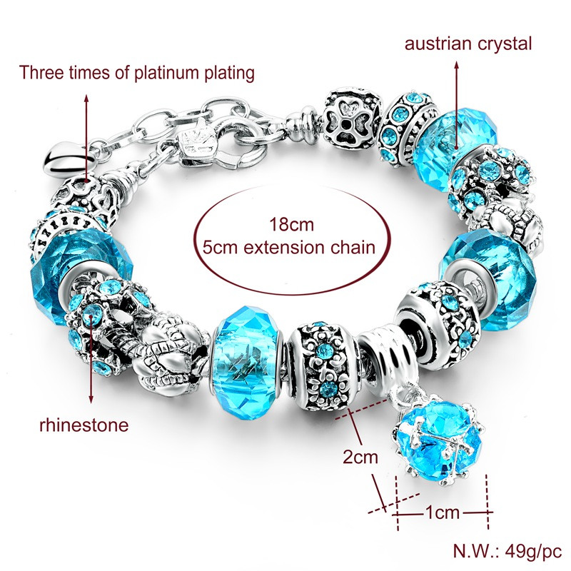 elements for with swarovski crystal p bracelet jewellery links kit beadwork flower asp jewelry beads tones making